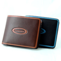Free shipping Newest Grade High quality Faux Leather Men's short Wallets horizontal purse/money clipps for man MQB12
