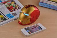 Iron Man Bluetooth Speaker Mini Hifi Boombox Support Hands Free TF Card U-Disk Flash Fashion Cool Gift Music Box Present Dance