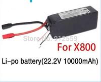 Walkera Li-po battery 22.2V 10000mAh for Walkera QR X800 FPV RC Quadcopter Drone helicopter remote control toys