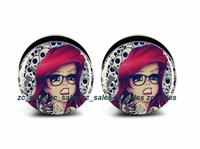Wholesale 60pcs tattoo princess plug acrylic screw fit ear plug flesh tunnel ear gauges mix sizes 6mm-25mm A0222