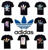 many style 2014 Fashion men elegant shirt with short sleeves t-shirt adida uneven brand men o-neck t shirt men brand AD006