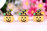 Free Shipping  50PCS/Lots Very Hot and Kawaii  Resin Halloween pumpkins cabochons FOY DIY  30*25mm