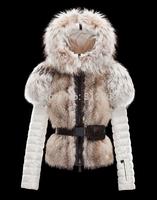 Top Quality Luxury Women's Fur Coat 100% Real Rabbit Fur Down Parka Brand Ladies Down Coat With Belt Fur Collar Lady Down Jacket