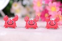 Free Shipping  50PCS/Lots Very Hot and Kawaii  Resin crab cabochons FOY DIY   25*25mm