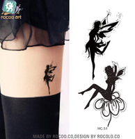 New Fashion Body Art Temporary Removable Angel butterfly fairy Sailor moon Tattoo Stickers Waterproof environmental body tattoo