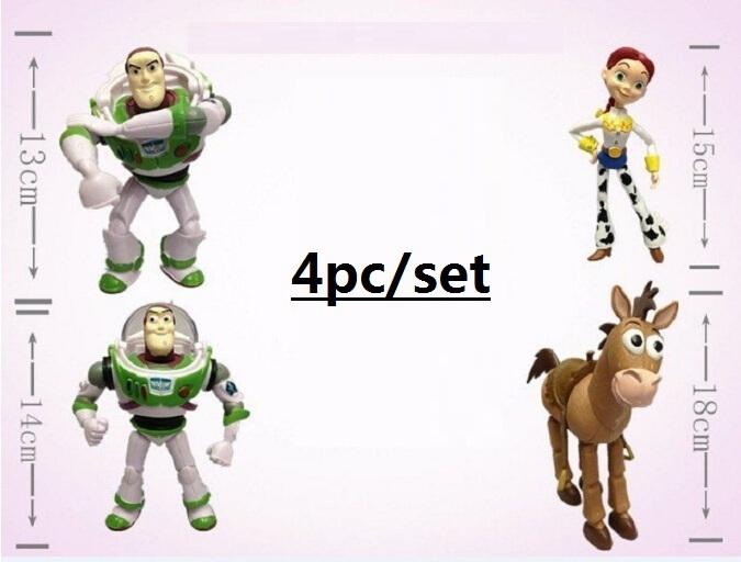 Toy Story 3 Woody Buzz Lightyear Jessie PVC Action Figure Toys Dolls 5pcs/set Children Toys SHD-1074(China (Mainland))