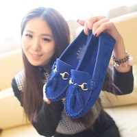 2014 Korean version of the influx of women Peas shoes flat shoes new bow tassel shoes wholesale shoes Peas