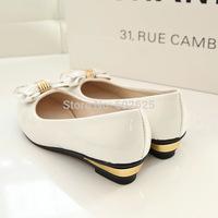 2014 autumn new Korean singles shoes fashion shoes decorative metal bow free shipping
