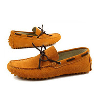 2014 Autumn Fashion Brand Men Genuine Leather Suede Loafers Slip-on Driving Shoes Moccasins Flats