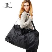Large capacity simple light waterproof bag big travel bag bags of clothes big bag folding luggage cross-body bag big