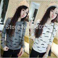 2014 autumn women's sweatshirt female autumn and winter thin outerwear women's t-shirt top basic t shirt hoodies