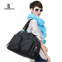 Nylon waterproof bag travel casual big bag large capacity one shoulder cross-body women's handbag nappy bag
