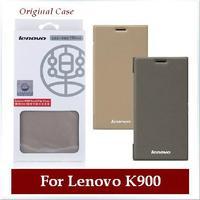 100% Original Flip Leather Case For Lenovo K900 Mobile Phone Smart Sleep/Wake Battery Case Cover For Lenovo k900 Free Shipping