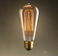 Antique Vintage Edison light Bulb 40W 220V radiolight ST64 Squirrel cage Tungsten home decoration, Free Shipping