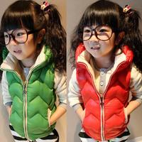 2014 New Fashion Brand Children Kids Child Warm Cotton Vest Waistcoats Topolino Girls Winter Jacket Coat Children Coat Outwear