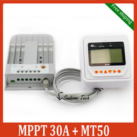New Tracer 3215BN  MPPT Solar Charge Controller with MT50 LCD display Remote meter 30A 12V 24V