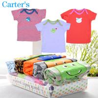 Carters Newborn Cotton Kids Clothes Tees Child Blouse Clothing Baby Girls boys T shirts Top short Sleeve Animal Cartoon Summer