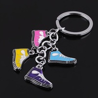 Freeshipby EMS 190pc/lot Epoxy fashion sport shoes shape beautifully creative sneakers keychain bag charm biz promotion gift1890