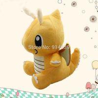 "Free Shipping 10pcs/lot Japanese Cartoon Pokemon Dragonite Plush Doll Toy Stuffed Dolls 6""16cm Gifts for children HW007"