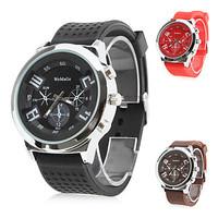 Fashion Womage Brand New Silicone Strap Casual Men's Sports Quartz Military Watches Wristwatches Relogio Feminino Masculino