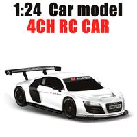 Free Shipping Rastar Star 1:24 Audi R8 LMS Remote Control Car 46800 rc Electric Toy/Children Radio Controller Christmas Gift