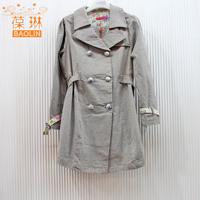 The clearing of Pauline maternity autumn and winter fashion Joker's suit jacket lapel women windbreaker jacket