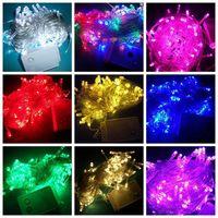 9 colors 100 LED 10M christmas wedding String Fairy Lights Christmas led light UK US AU EU Plug ,50pcs/lot
