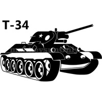 Car Sticker  USSR T-34 motorcycle waterproof stickers outdoor decal reflective stickers