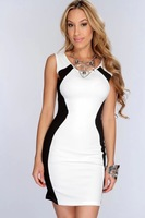 Direct supply of foreign production house hit color stitching sleeveless sexy lingerie dress free delivery