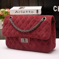 Hot Sale New Fashion Ladies Woolen Velvet Plaid Chain Shoulder Bag Women Suede Small Evening Cross body messenger bags Handbag