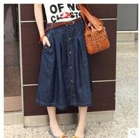 Plus Fat Increase Code Denim Skirt Wild Type A Big Swing Big Size Skirt Loose Casual Denim Skirt Summer Fashion High Quality