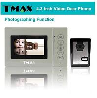 "TMAX 4.3"" LCD Photograph Video Door Phone Doorbell Home Entry Intercom with 500TVL Night Vision Camera"