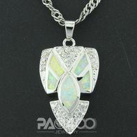 White Fire Opal Silver  Fashion  Jewelry Women & Men  Pendant  OP254B  Wholesale & Retail