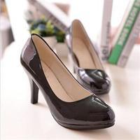 2014 Classic Fashion Women High Heel patent leather Platform Brand Pump Shoe For Women