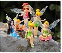 free & drop shipping 1set=6pcs Newest hot sales 7-10cm Beautiful faery wonderful fairy doll furnishing articles pvc  girls toys