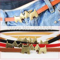 Free shipping  belt Kiss the dog unadjustable belt the dog  lady belt  fashion Korean Style 2014 new fashion