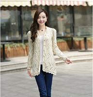 New 2014 Fashion Winter Women Long Stretch Design O-Neck Sweater Warm Regular Computer Knitted Jumper Knitted Outwear Coat G 01