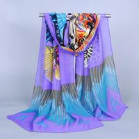 Apparel & Accessories Women Grid Designer British Plaid Chiffon Polyester Scarf Luxury Brand Stole Shawl Female Wrap Scraf
