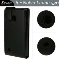 Free Shipping For Nokia Lumia 530 Magnetic Flip PU Leather Case Cover, 50pcs/lot