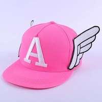 Korean Ladies Hat cute angel wings flat along the letters A baseball hats wholesale eruption
