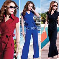 2014 new summer women's set ladies fashion leisure suit  casual 2 piece set women Jacket and pants suit party clothes Star style