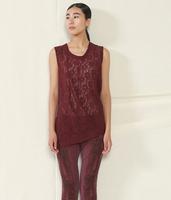 JNBY autumn paragraph lace sleeveless cotton lace pattern Ladies T shirt 5C66152
