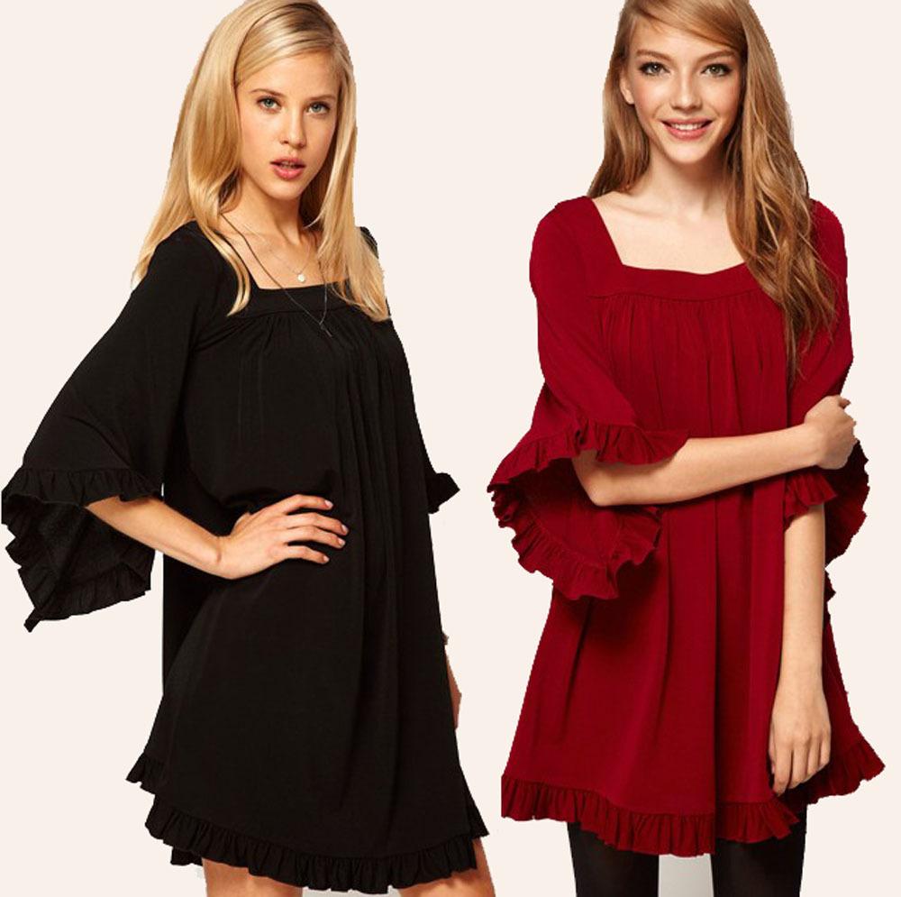Designer Clothing Discount Flounced Designer Elegant