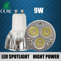 10pcs/lot Wholesale - Super Bright 9W Led GU10 Bulbs Light 110-240V Dimmable Led Spotlights WarmCool White led lamps