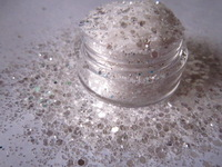 White Holographic Glitter Mix for Glitter Nail Art, Glitter Nail Polish & Glitter Crafts