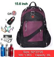 New Hot high quality Swiss Army business shoulder bag 15.6 / 17 inch computer bag schoolbag men women fashion tide bags SW836-01