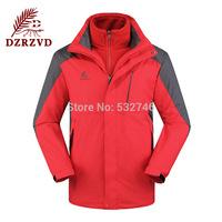 Skiing jackets winter outdoor jackets for UNISEX couple models plus Men's fleece skiing velvet hooded waterproof jacktes