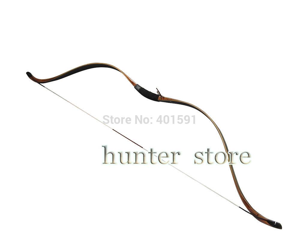 china purely handmade traditional recurve horsebow 35lbs black beech laminated wood fiberglass longbow(China (Mainland))