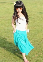 5pieces/lot,  Baby petti Skirt, Kids Girls long Skirts, A-aag018