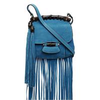 2014 Fashion New 4 Colors Tassel Scrub Bamboo Women Shoulder Cross-Body Bags Handbags PU Design Autumn Styles Bolsa Franja BG094